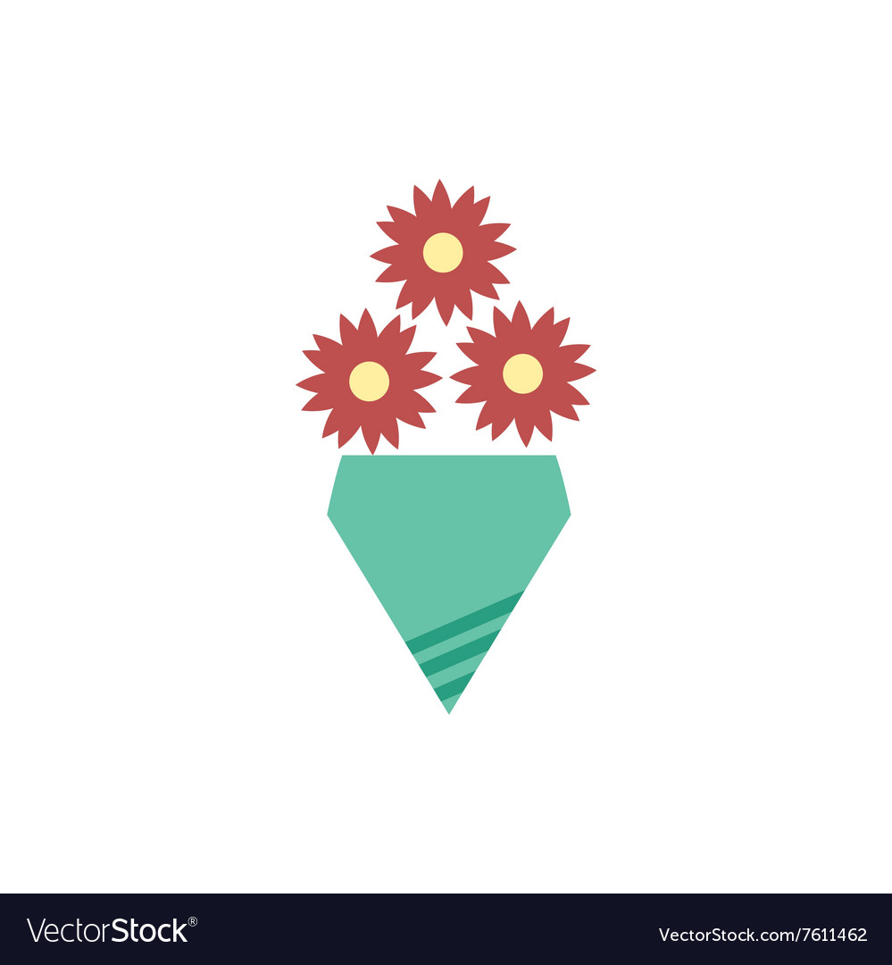 Flat icon on white background bouquet of flowers