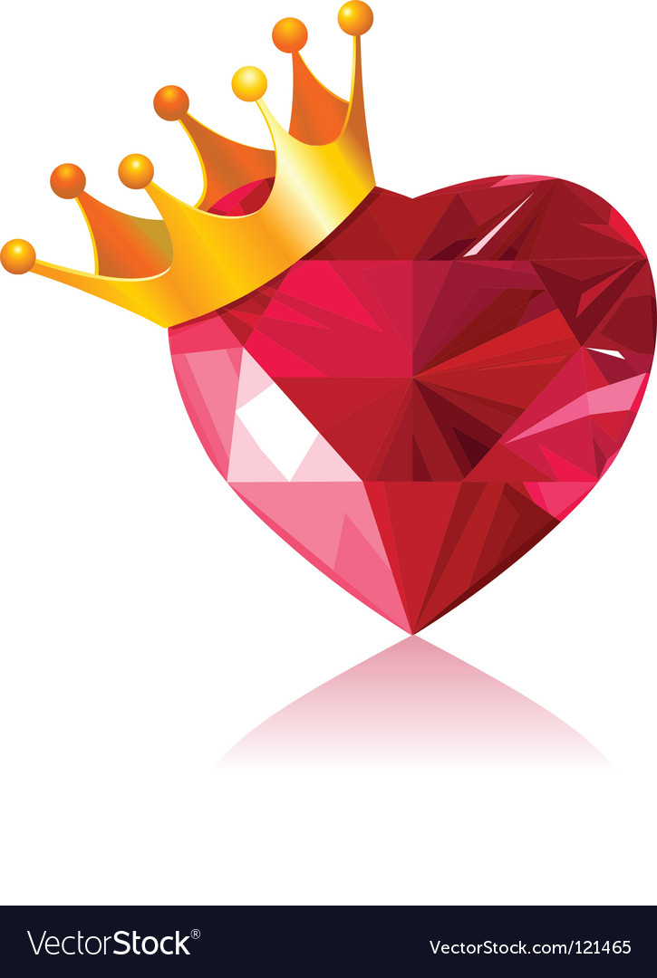 Crystal heart Vector Image