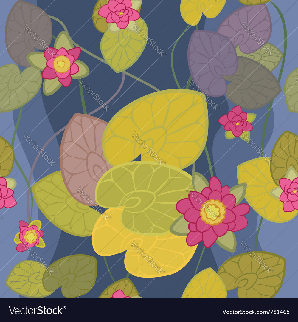 Beautiful flower pink lotus vector image