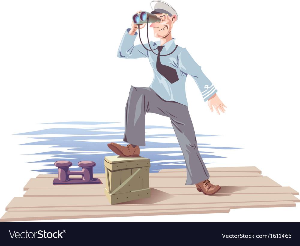 Captain vector image