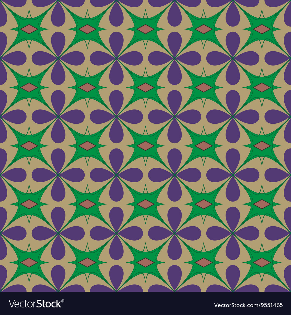 Flower abstract seamless pattern vector image