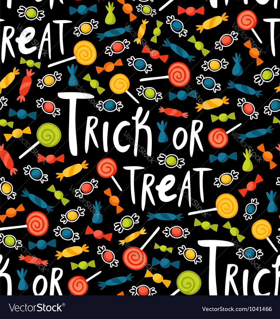 Trick-or-treat pattern vector image