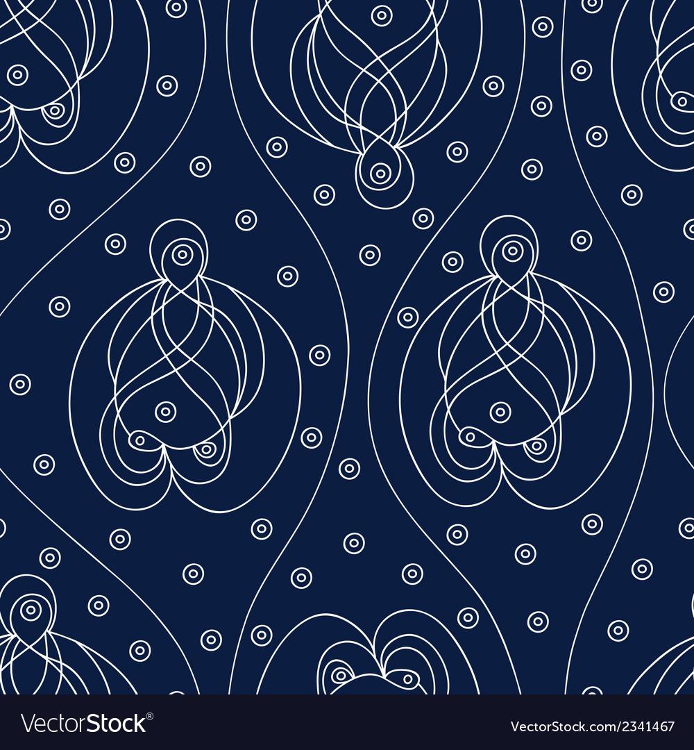 Dark indian pattern vector image