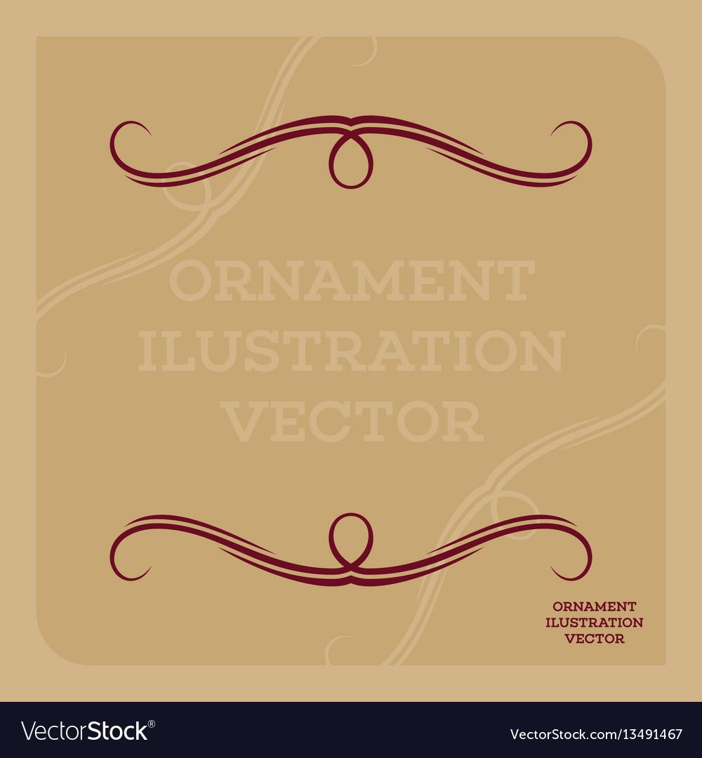 Ornament ilustration vector image
