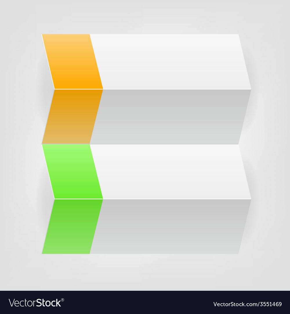 Flat paper tag vector image