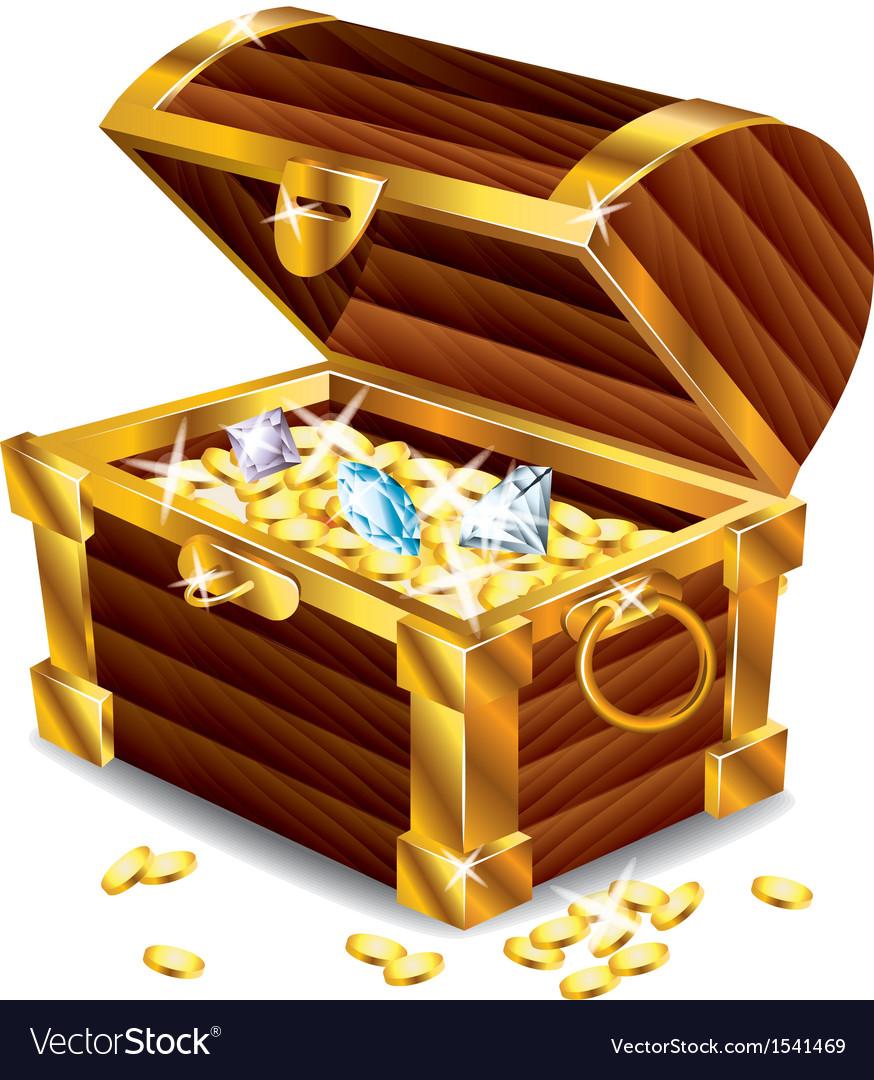 Treasures box vector image