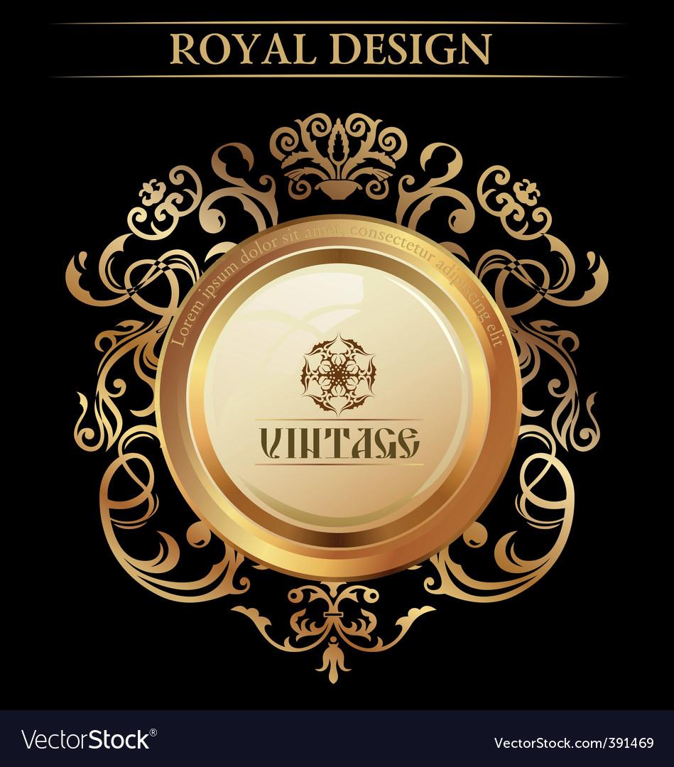 Vintage royal design element vector image