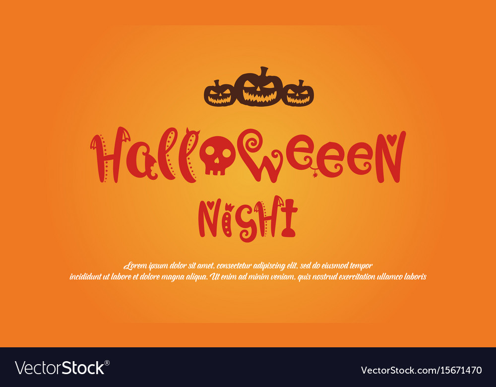Greeting card halloween design collection vector image