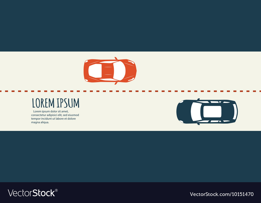 Highway traffic Minimalistic banner vector image