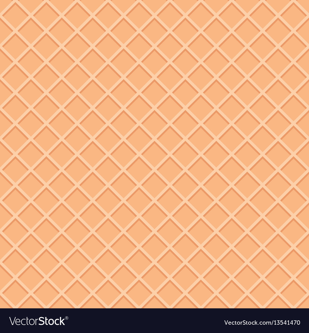 Ice Cream Cones Background Royalty Free Vector Image: Wafer Seamless Pattern Background Ice Cream Cone Vector Image