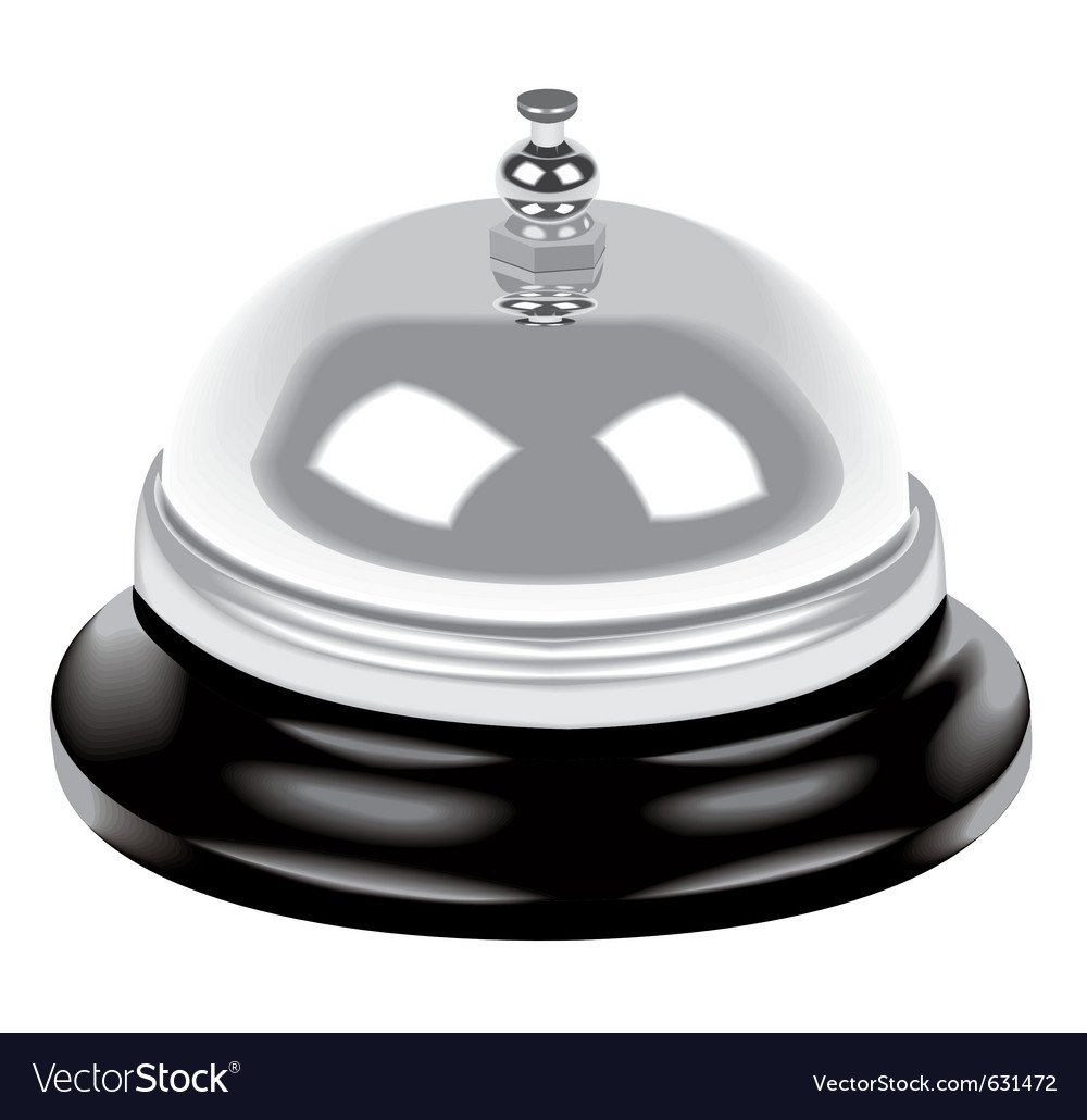 Bell on table vector image