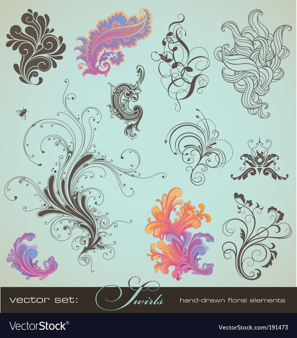 Swirls vector image