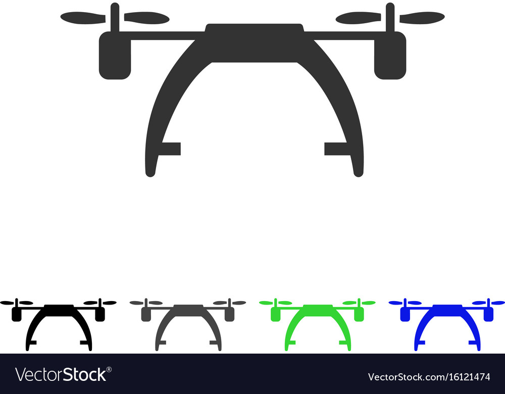 Drone carrier flat icon vector image