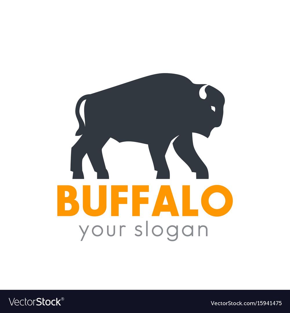 Buffalo logo element isolated over white vector image