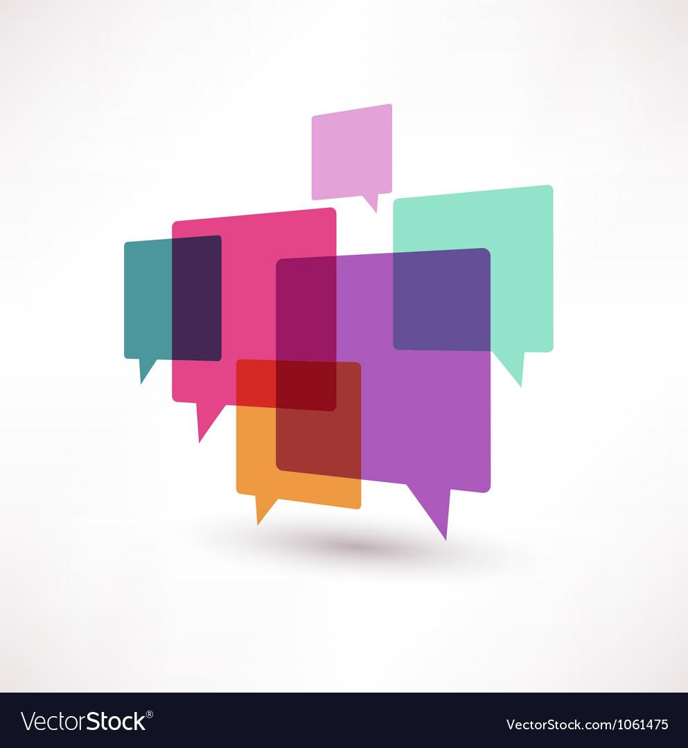 Cloud speech bubble vector image