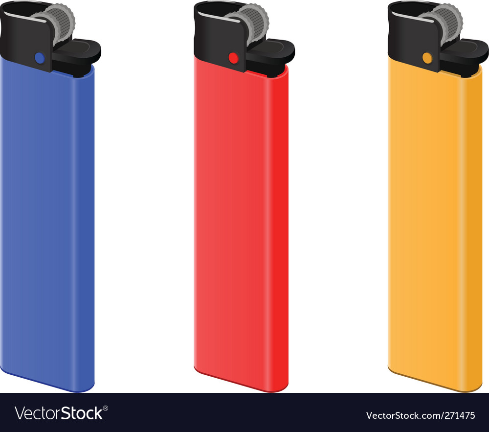 Colored lighters vector image