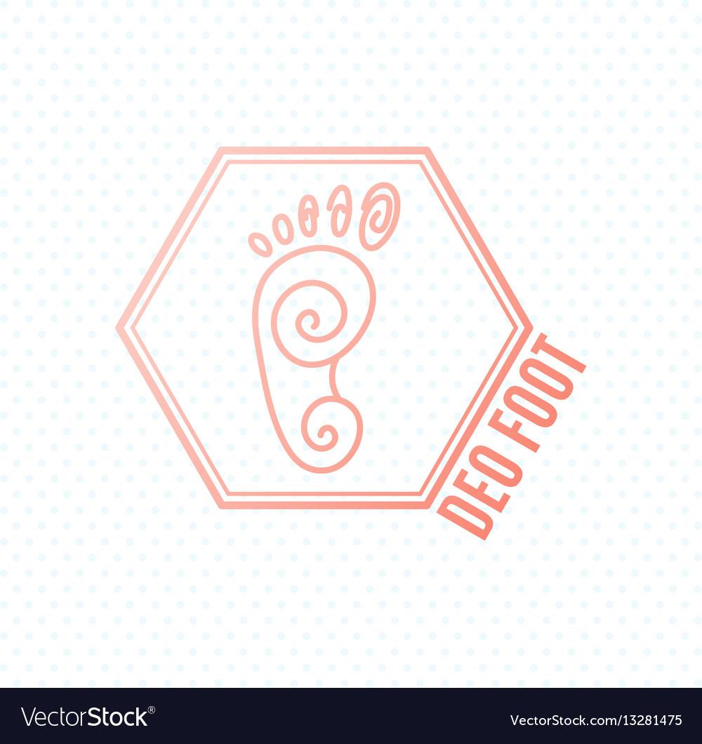 Logo of center of healthy feet human footprint vector image