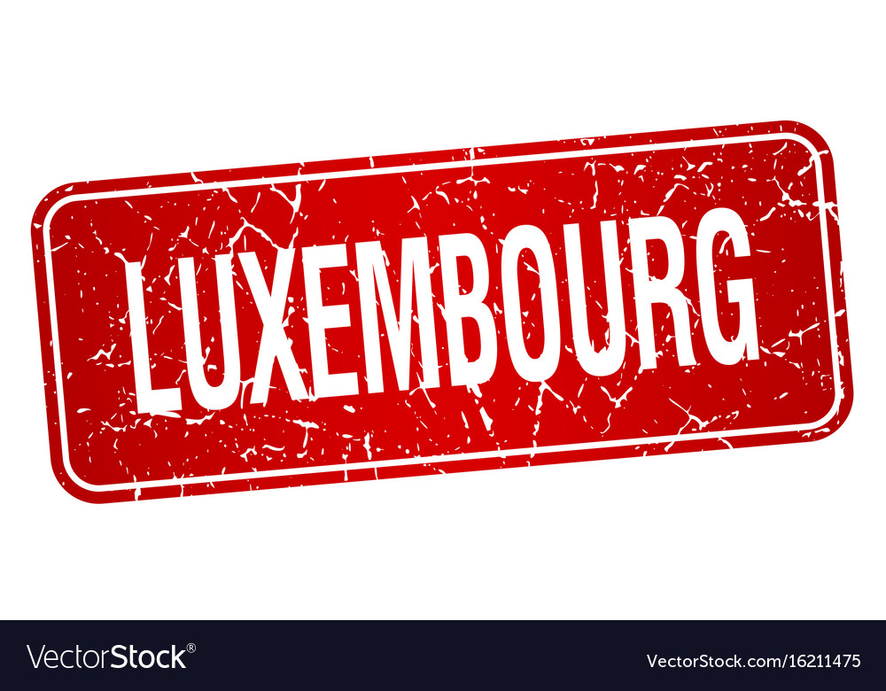 Luxembourg red stamp isolated on white background vector image