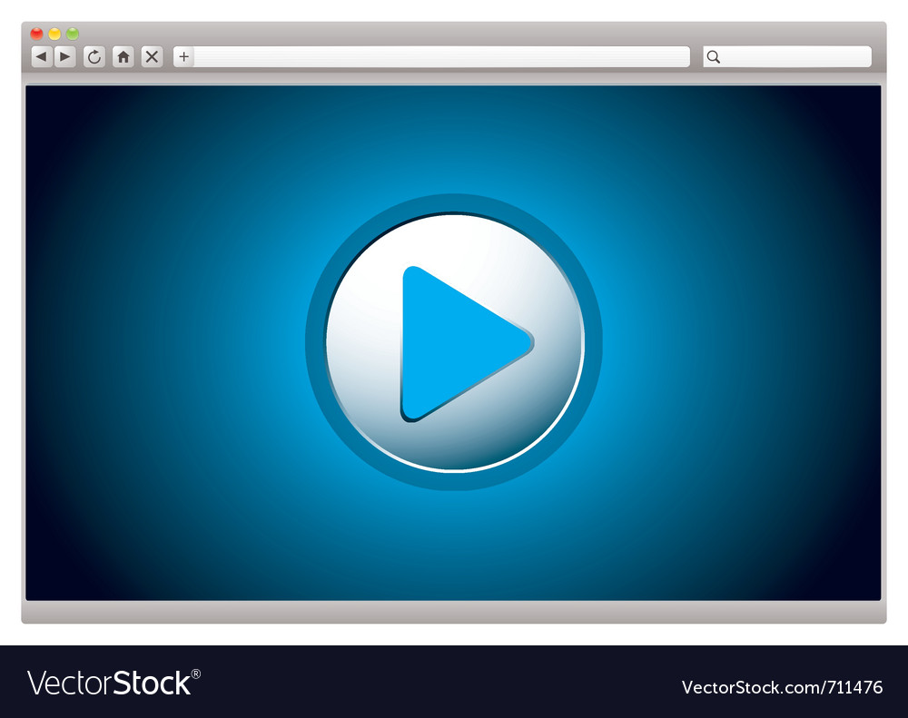 Web video player vector image