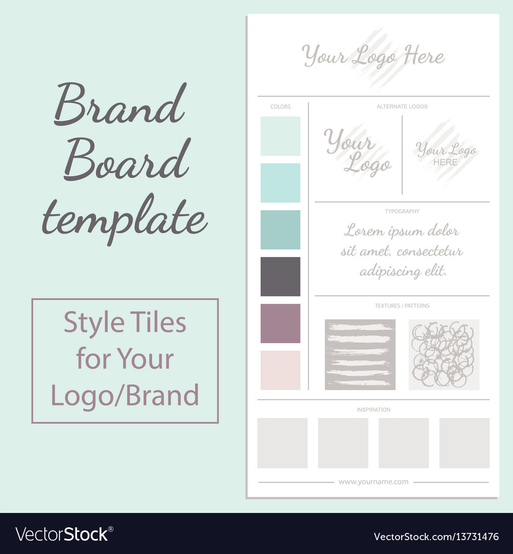 Moodboard template isolated on white vector image