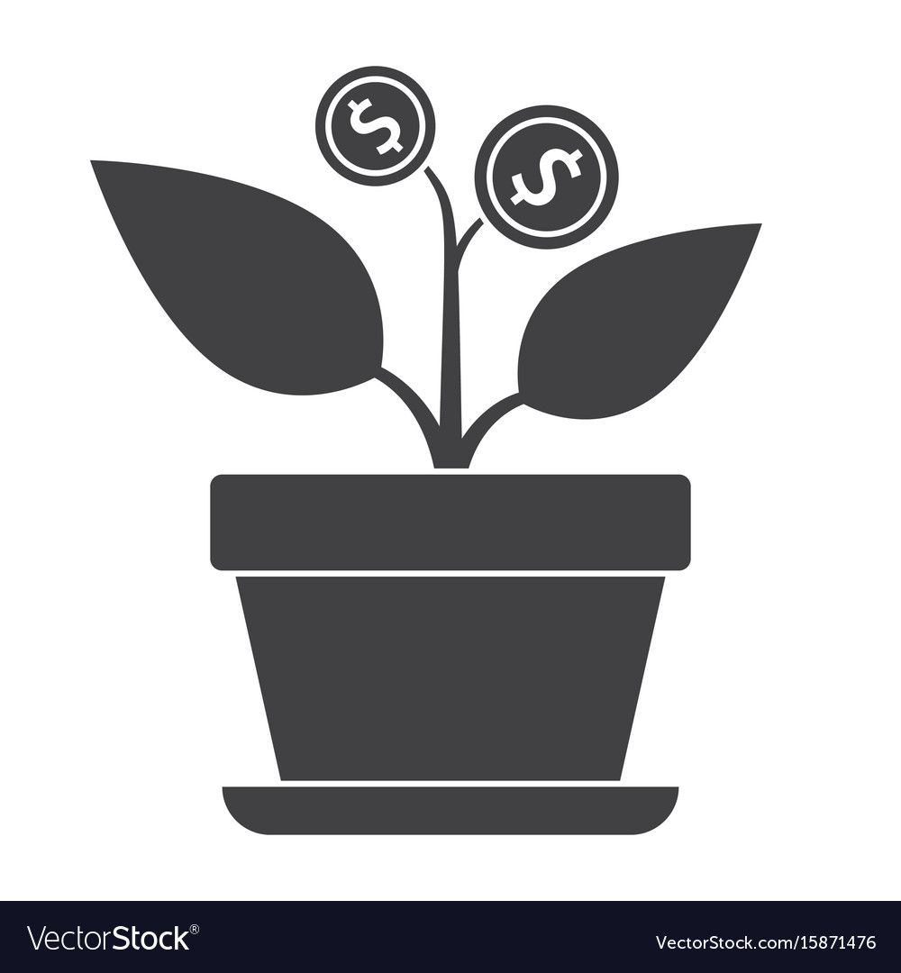 Successful investment concept vector image