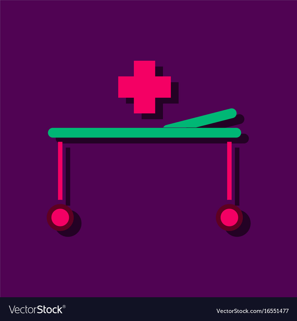 Flat icon design collection medical stretcher