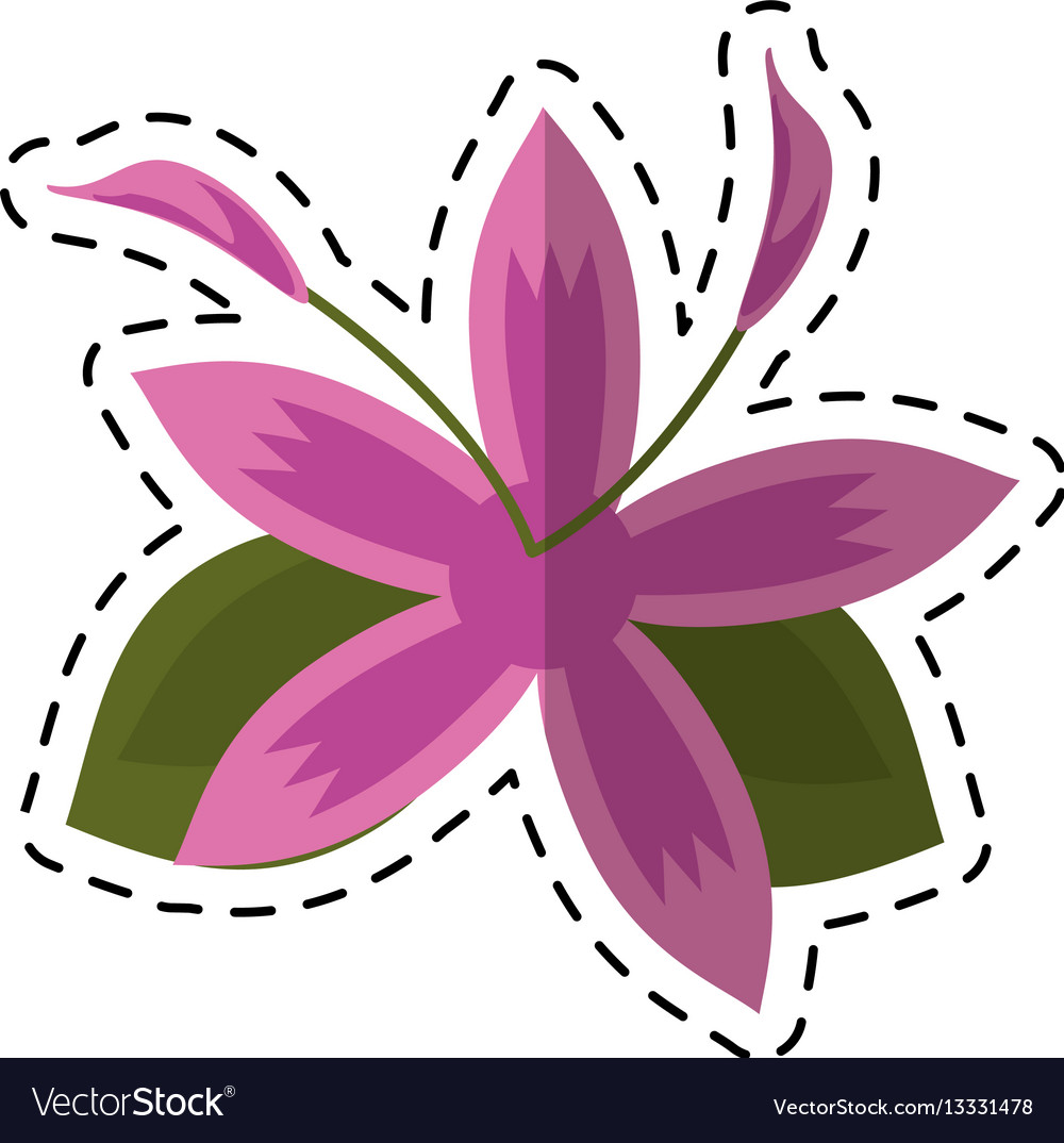 Cartoon flower daylily beautiful flora royalty free vector cartoon flower daylily beautiful flora vector image izmirmasajfo Gallery
