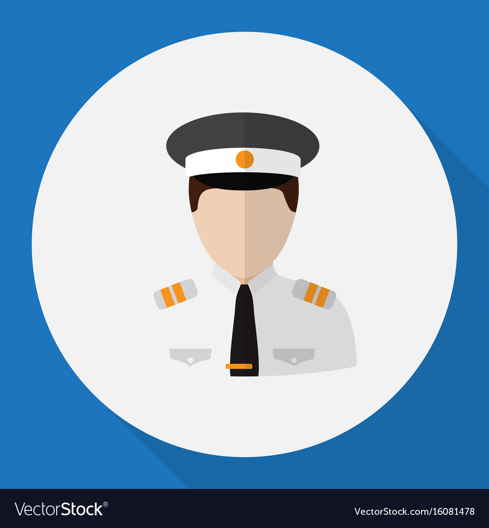 Of profession symbol on pilot vector image