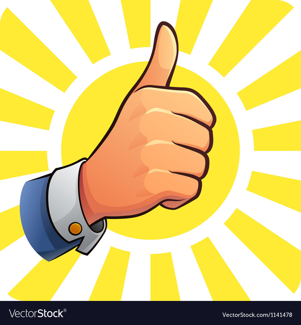 Thumb Up of Success vector image