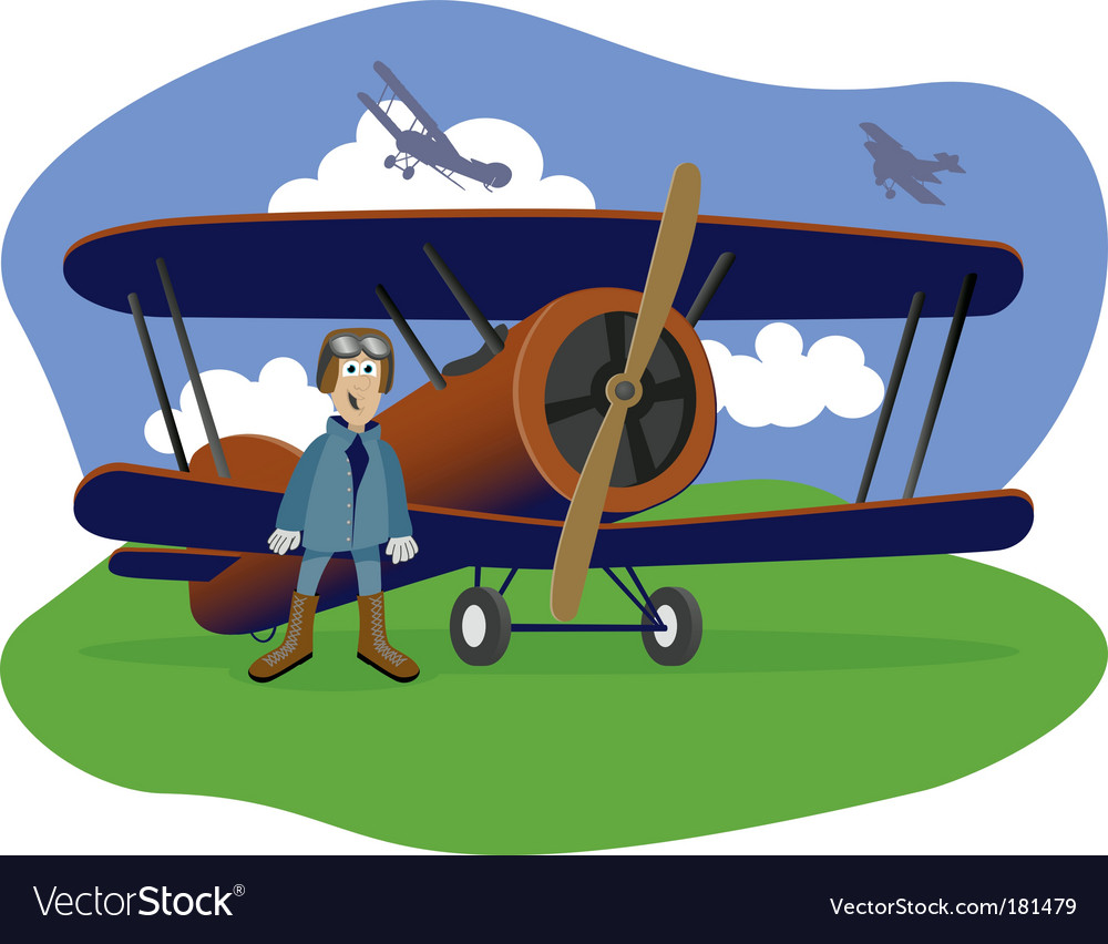 Flying ace vector image