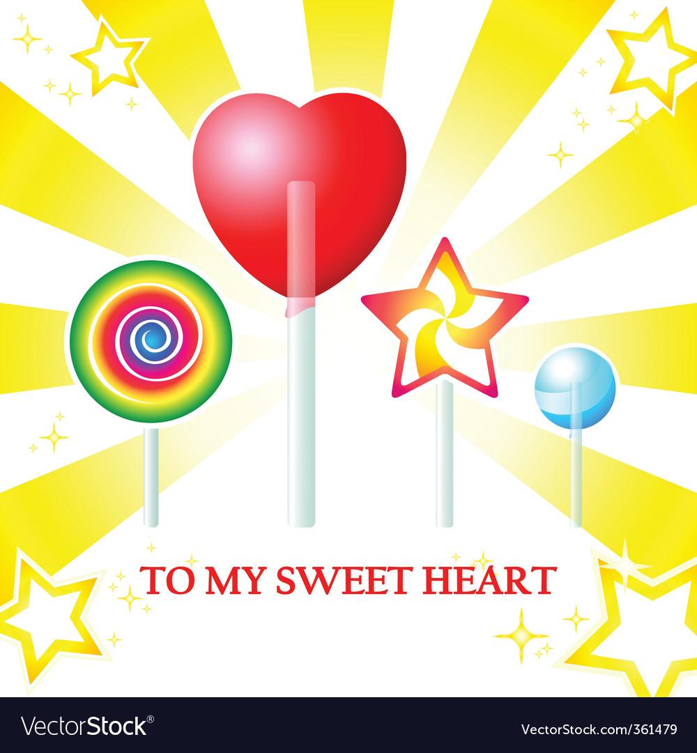 Sweet heart card vector image