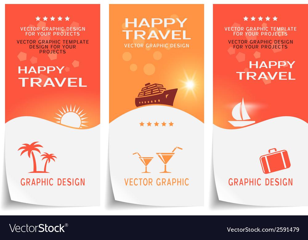 Travel banner poster sticker flyer ticket vector image