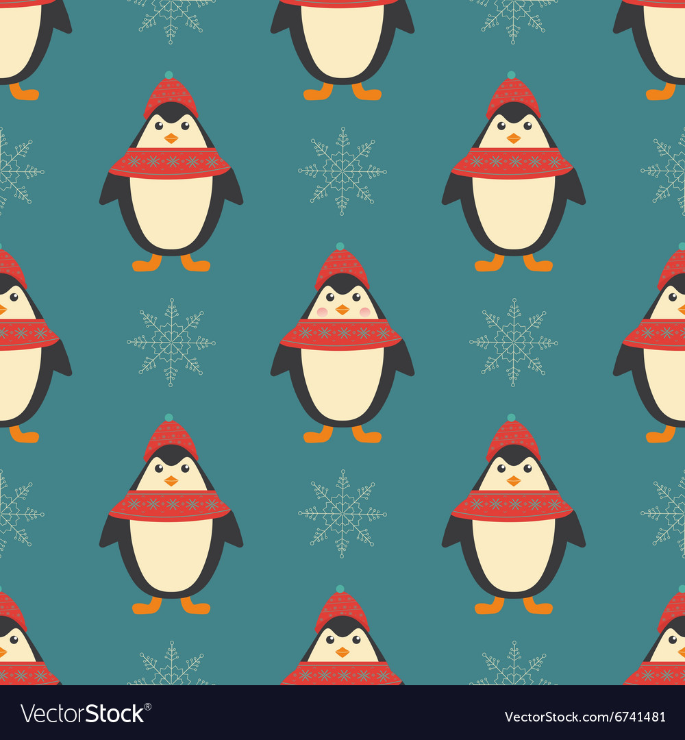christmas seamless patterns for xmas cards vector image - Xmas Cards
