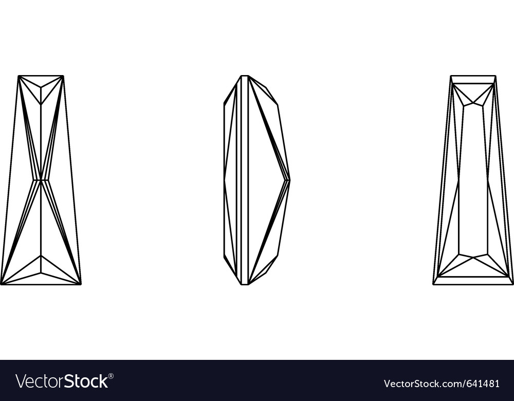 Gemstone wire frame vector image