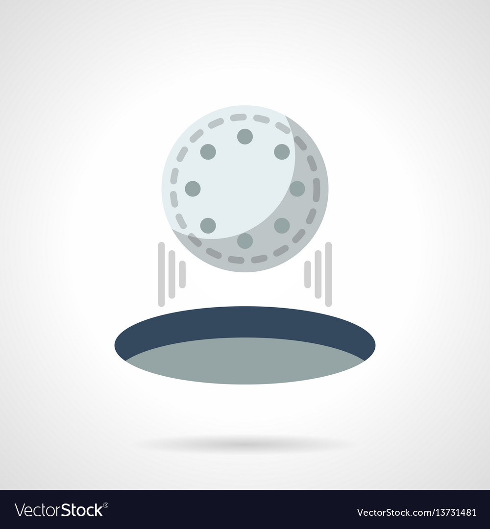 Hit in golf hole flat color icon vector image