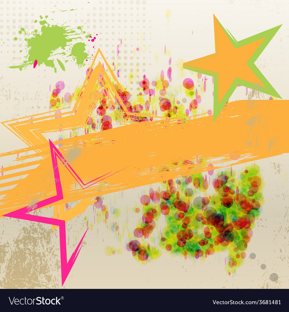 Star grunge abstract background vector image