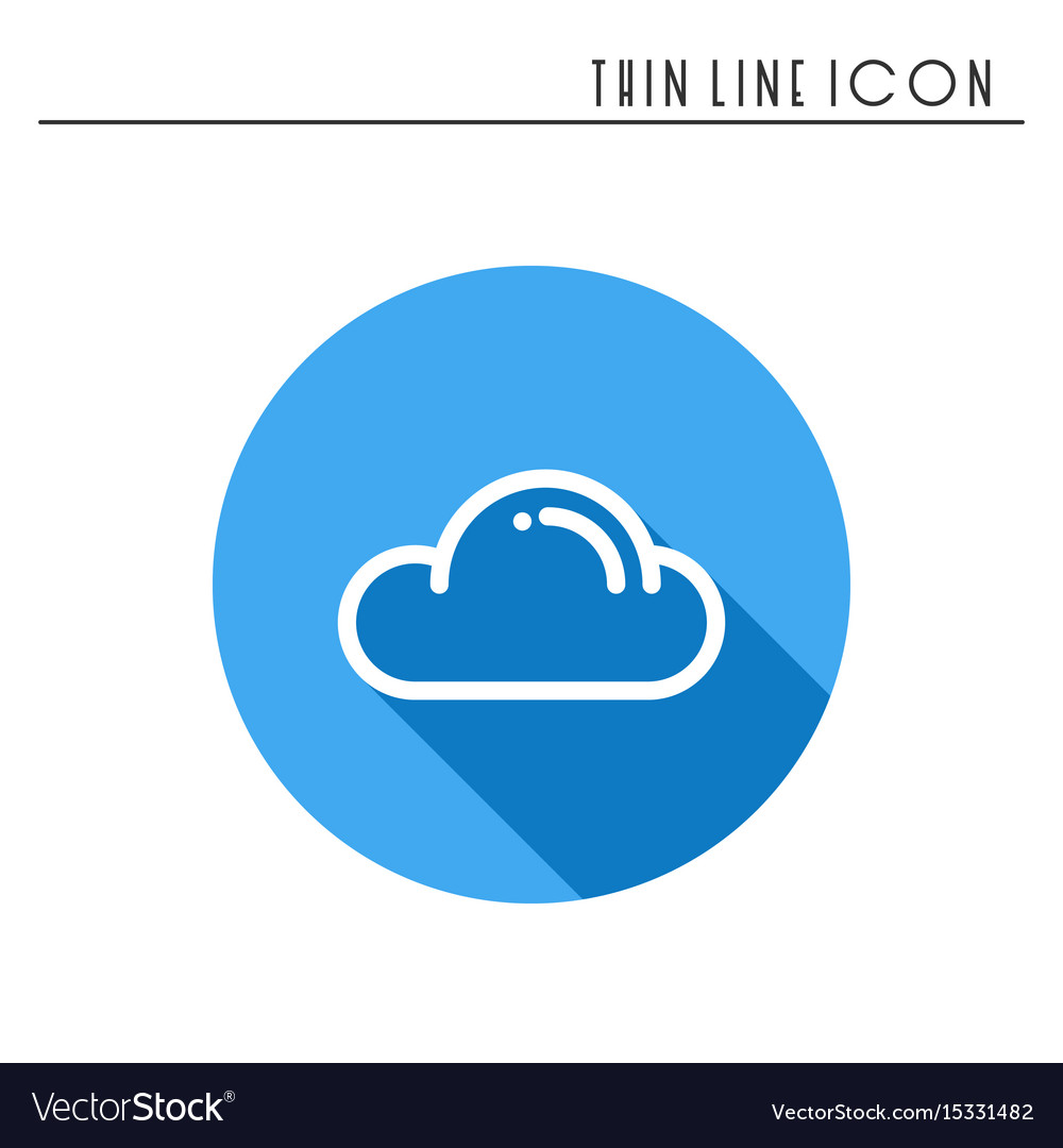 Cloud sky heaven line simple icon weather vector image
