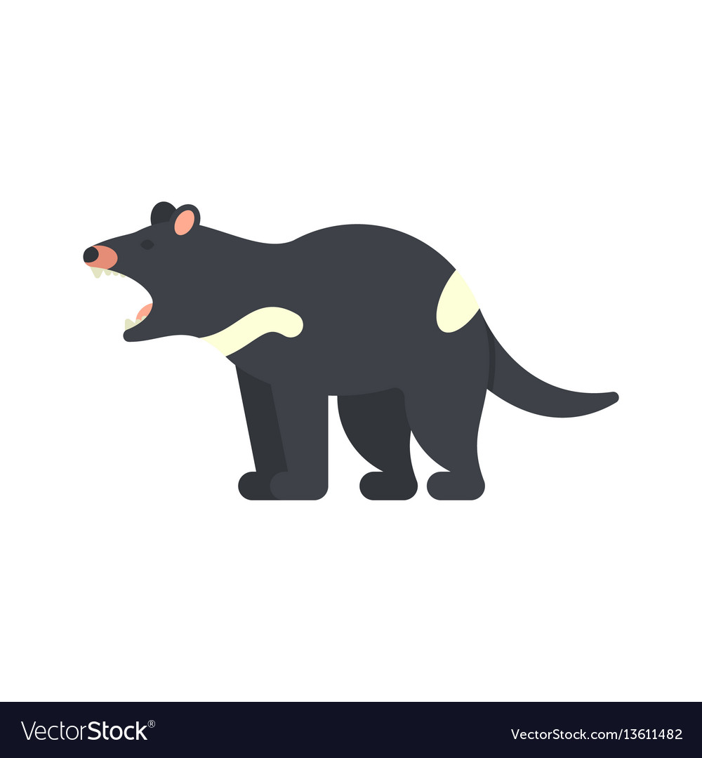 Flat style of tasmanian devil vector image