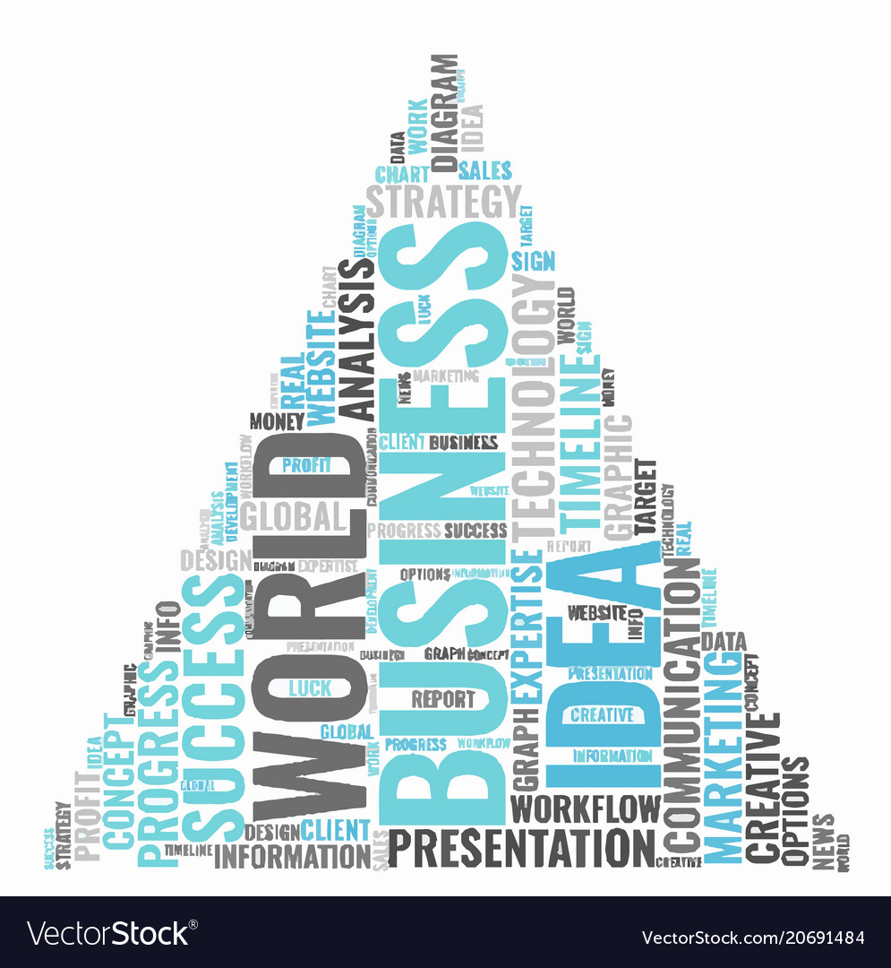 Business idea word cloud concept typography Vector Image