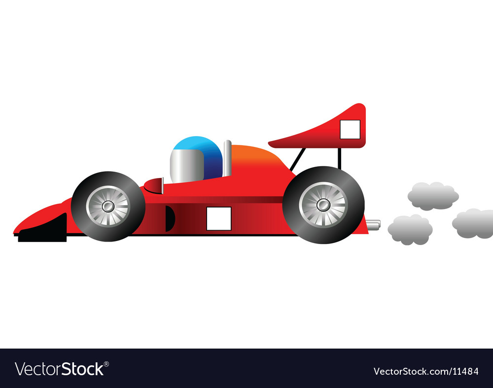 cartoon racing car royalty free vector image vectorstock. Black Bedroom Furniture Sets. Home Design Ideas