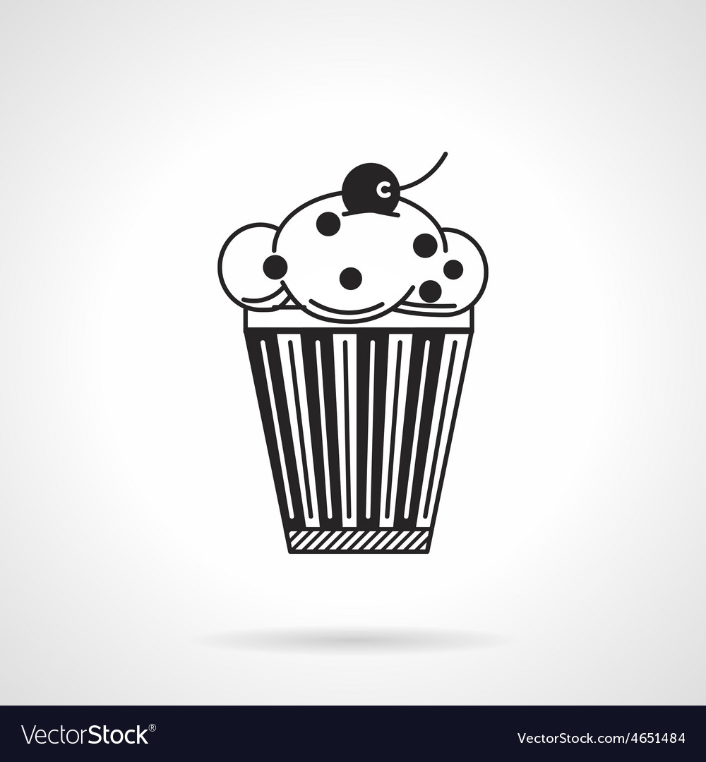 Cupcake with raisins black icon vector image