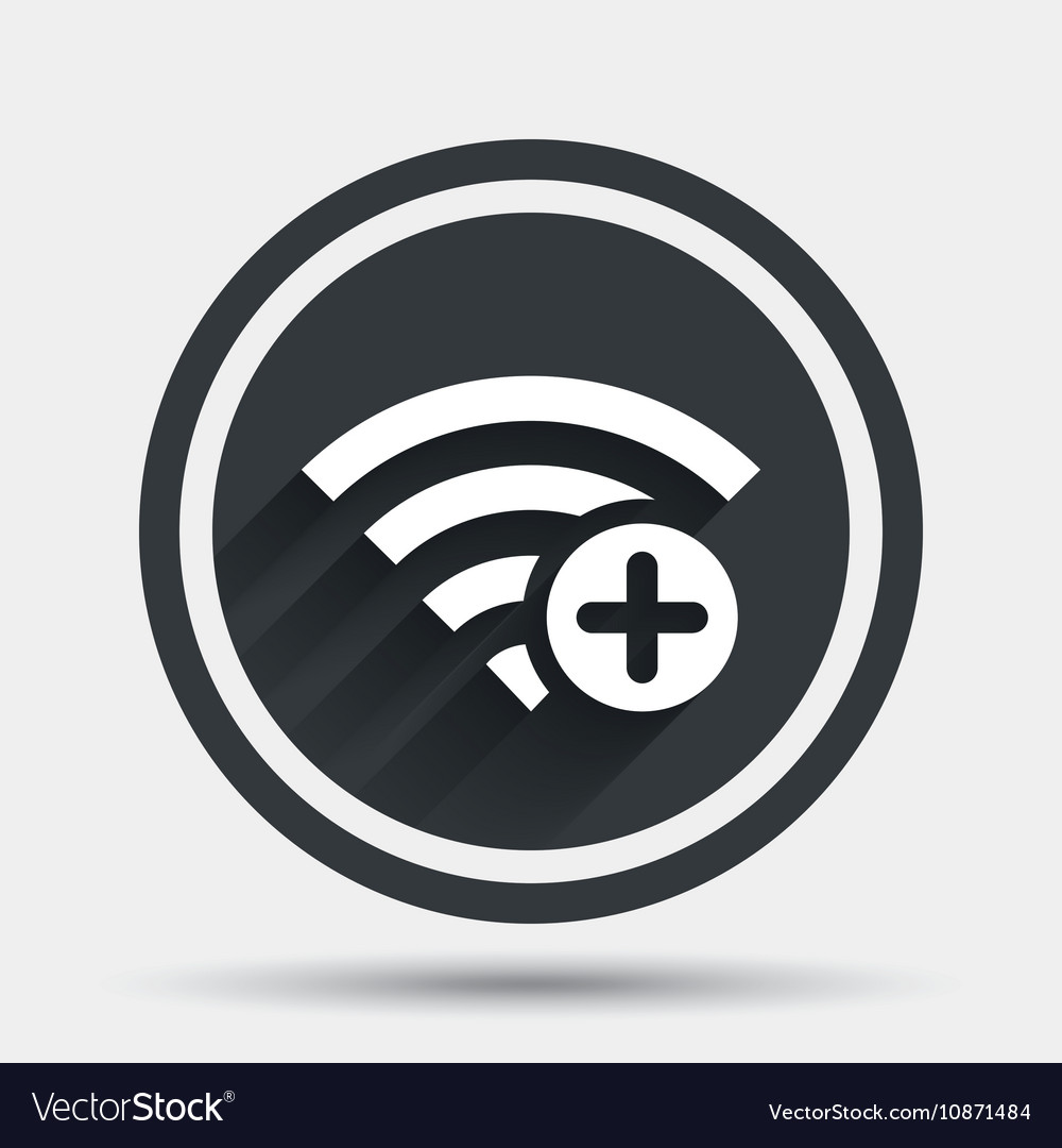 Wifi plus sign add wi fi symbol wireless vector image wifi plus sign add wi fi symbol wireless vector image buycottarizona