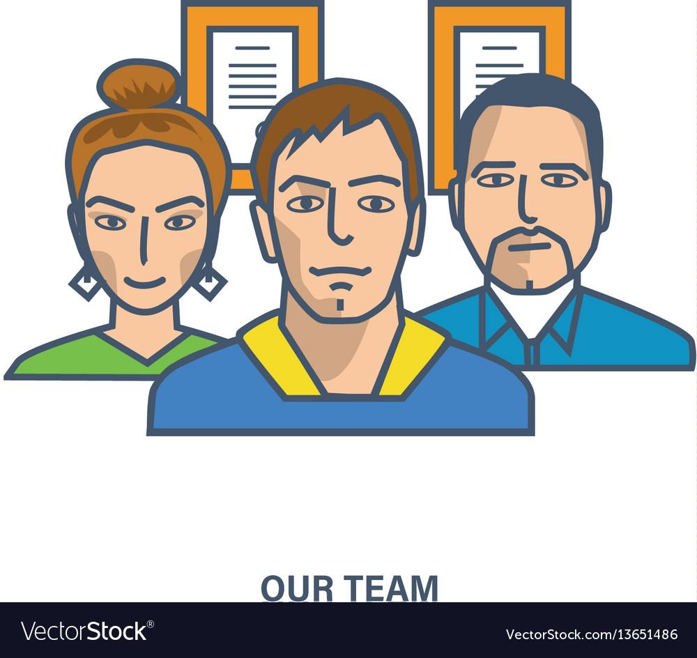 Our team teamwork team skills management vector image