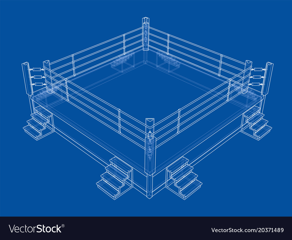 Boxing ring isolated on white background vector image ccuart Images