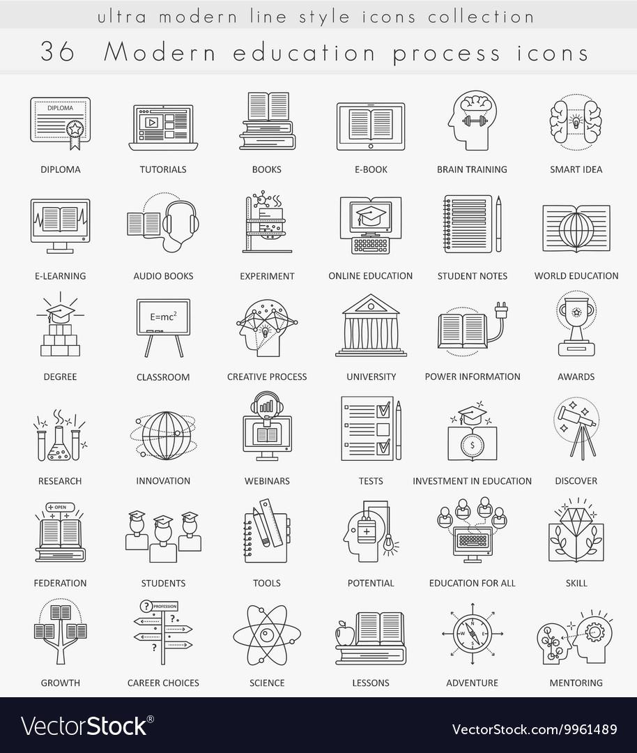 Modern online education ultra modern vector image