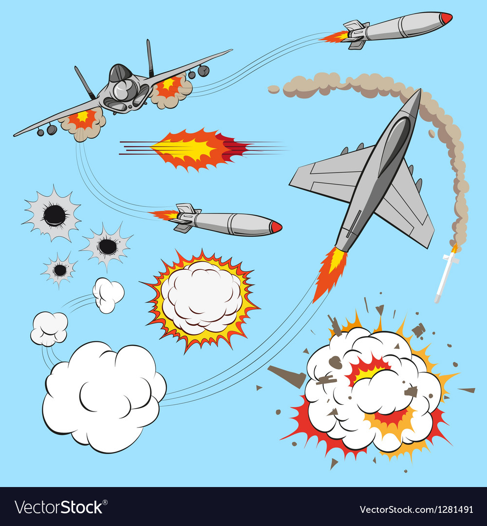 Plane set vector image