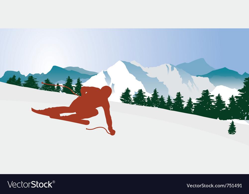 Downhiller vector image
