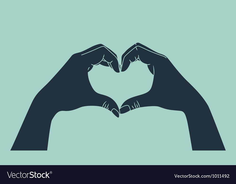 Love gesture vector image