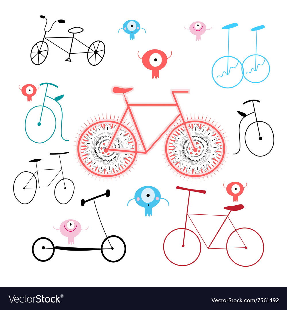 Different bikes vector image