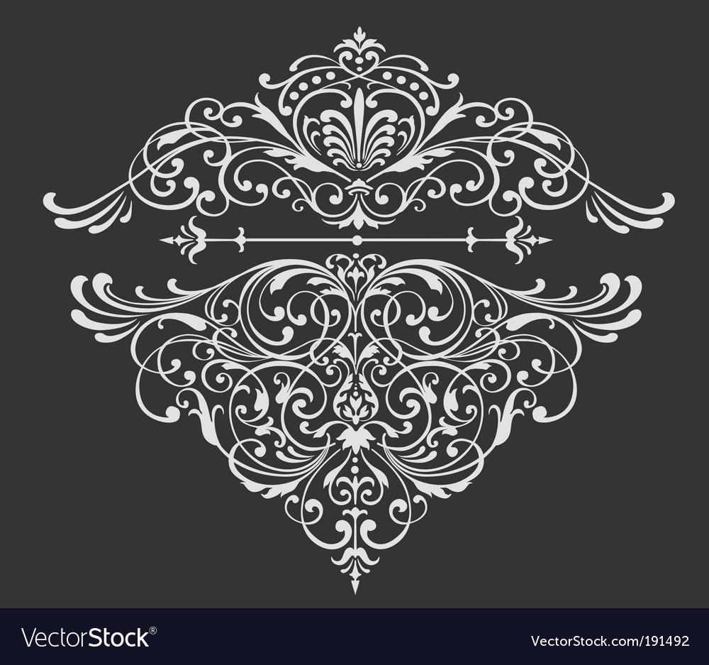 Ornate border vector image